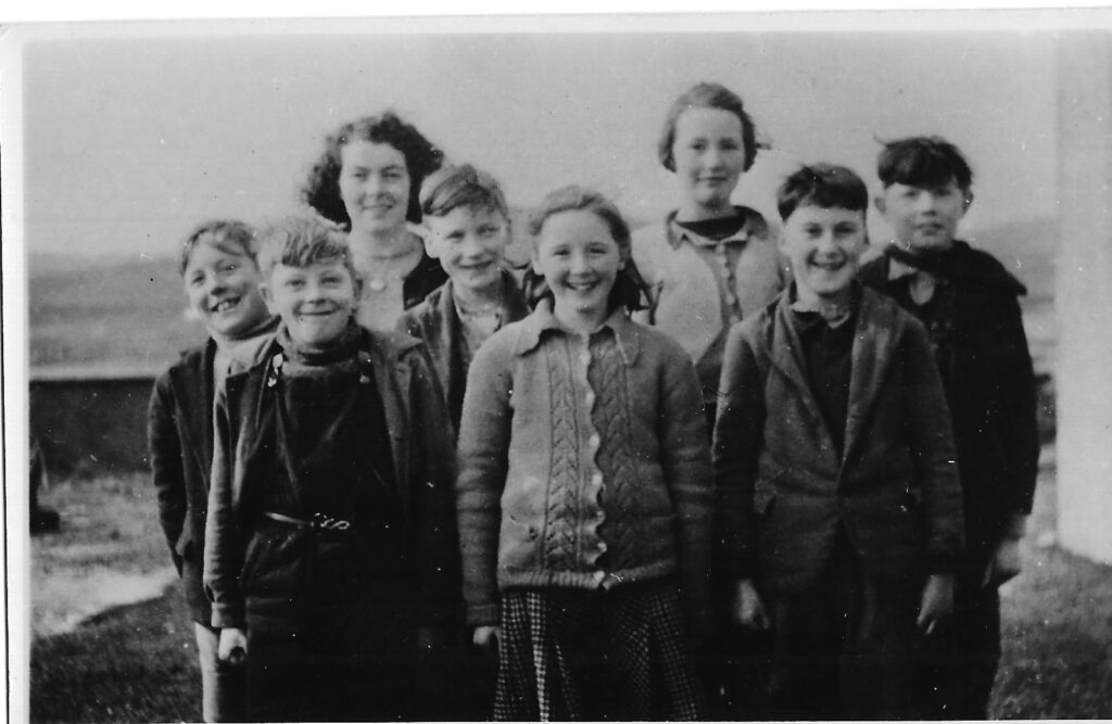 Photograph of North Walls School, Orkney, upper Primary class, 1948-49