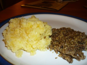 Photo of clapshot and haggis