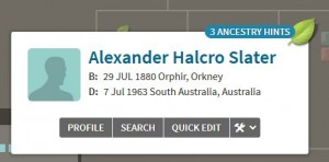 Ancestry shaky leaves hint