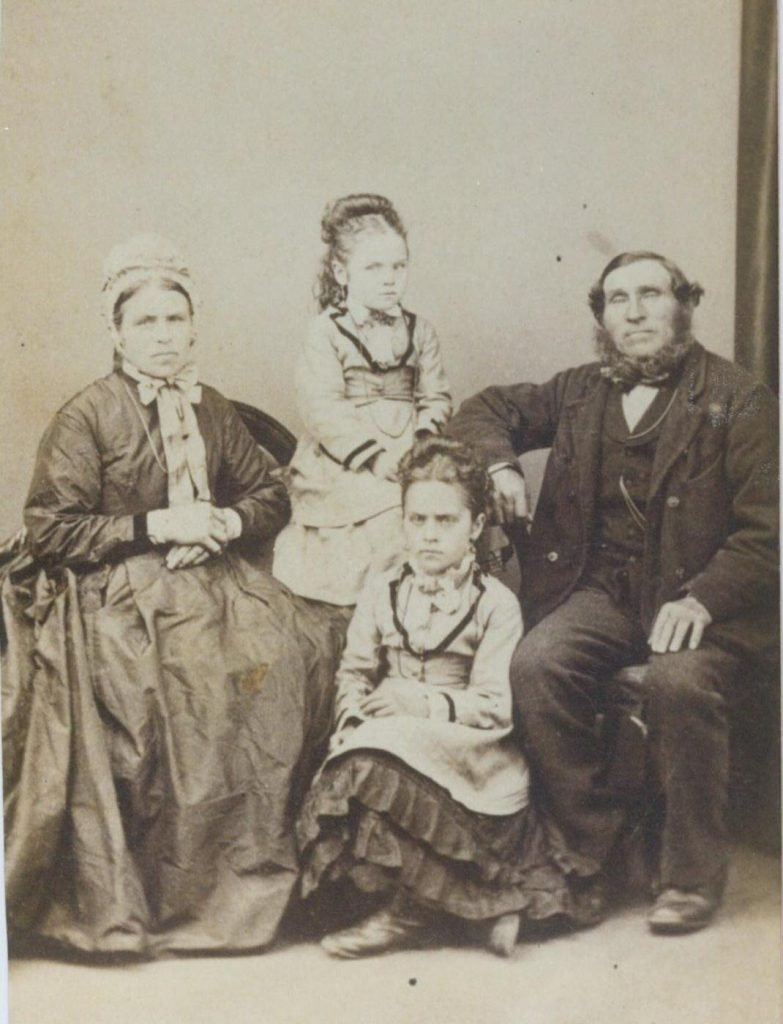 Photo of x2 great grandparents and 2 youngest daughters