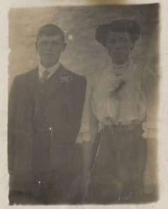 Photo of Walterina Nicholson and her brother Wilson, Brims, Walls, Orkney