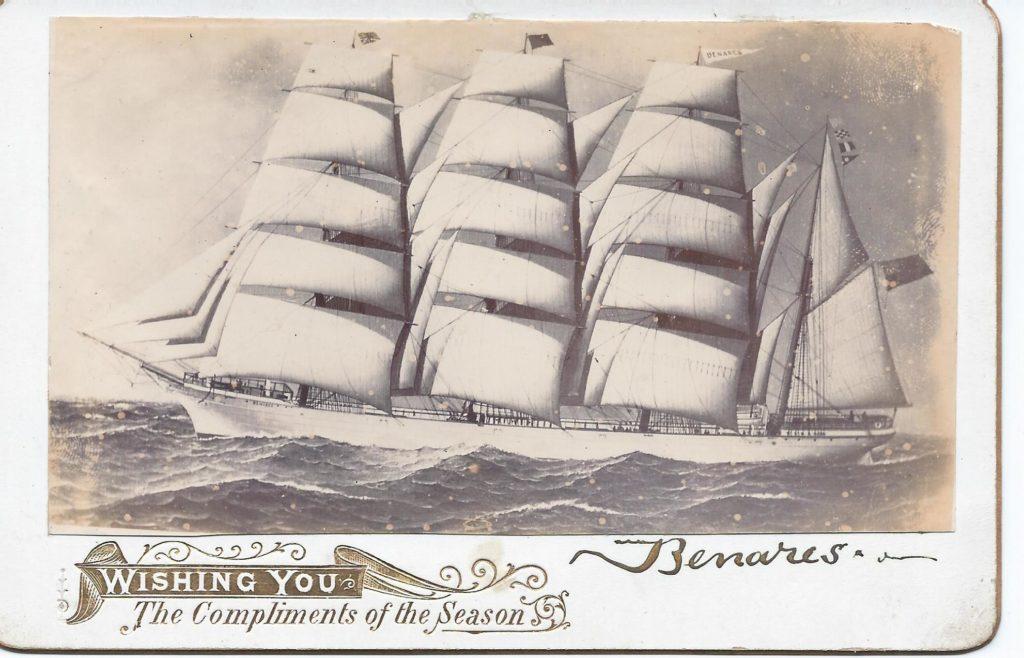 Photo of ship the Benares