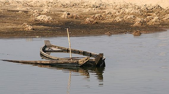 semi-submersed boat