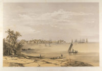 Fort and harbour of Colombo, Ceylon, 1864.