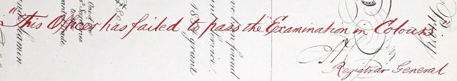 Snip from Hugh Ross's 1st Mate certificate