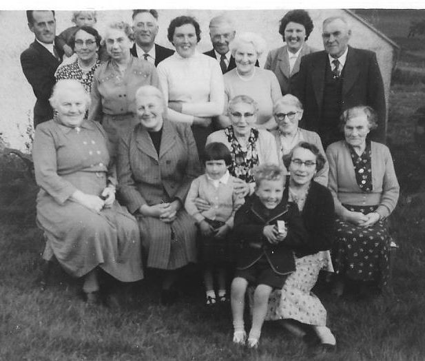 Photo of Kebro family and visitors