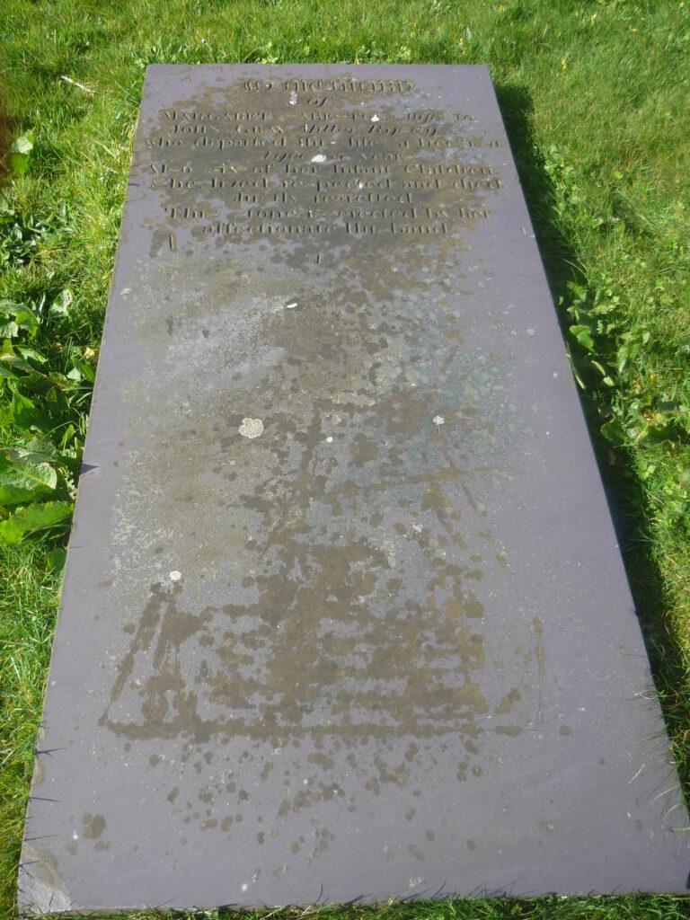 Margaret Sabeston or Gray - gravestone, Osmundwall