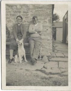Photo of Walterina, John and the dog Spot (c1943)