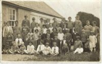 Photograph of North Walls Public School, Orkney, pupils and teachers, c 1930