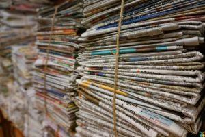 Photo of bundle of newspaper