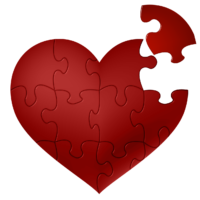 image of jigsaw heart